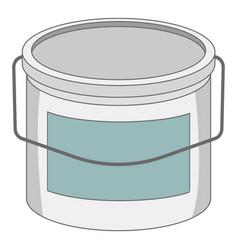 paint bucket icon cartoon style vector image