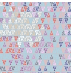 Pastel triangle pattern vector image