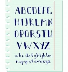 pen alphabet vector image