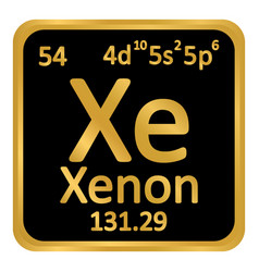 Periodic table element xenon icon vector
