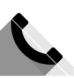 phone sign black icon with vector image