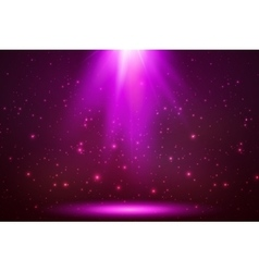 Pink magic top light in darkness vector image