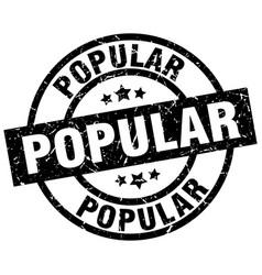 popular round grunge black stamp vector image