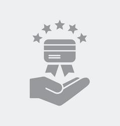 premium credit card service vector image
