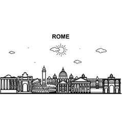 rome city tour cityscape skyline line outline vector image