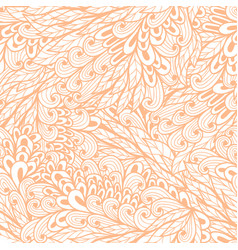 Seamless floral monochrome pink doodle pattern vector