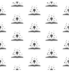 seamless pattern with shining above an open book vector image