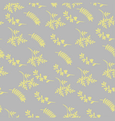 seamless pattern yellow leaves on a gray vector image