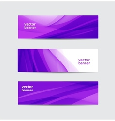 Set of abstract wavy banners vector