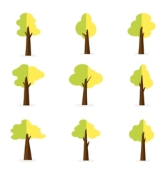 Set of tree object for decoration vector