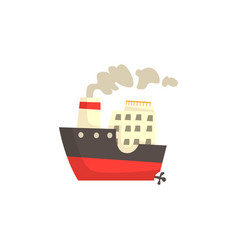 ship with steam vector image