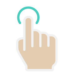 single tap flat icon touch and hand gestures vector image