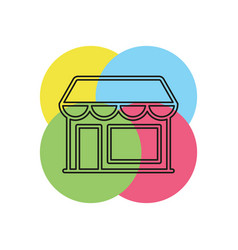 store icon - shopping icon - building storefront vector image