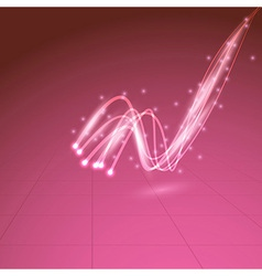 Swoosh cable line shiny abstract background vector