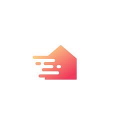 tech dash smart house logo icon vector image