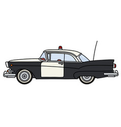 The old american police car vector