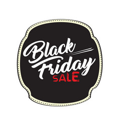 vintage black friday label vector image