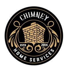 Vintage chimney logo layered vector