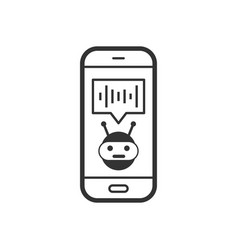 voice assistant on smartphone icon in flat style vector image