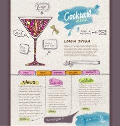 Websitecocktail design template vector image