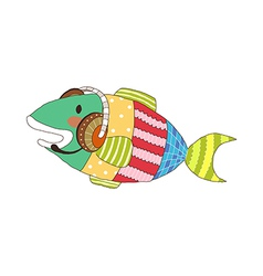 A view of fish vector