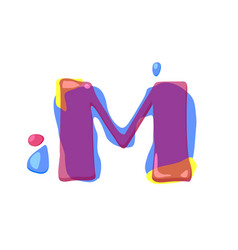 dots letter m logo m letter design with vector image