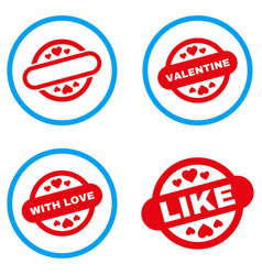 lovely stamp seal rounded icons vector image vector image