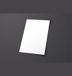 Mockup blank cover on a black background vector