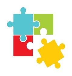 puzle simple3 resize vector image
