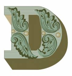 western letter d vector image vector image