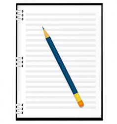 a notebook with a pencil vector image