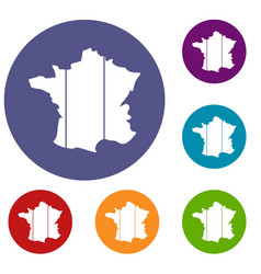france icons set vector image vector image