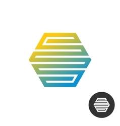 Hex tech construction logo vector image vector image