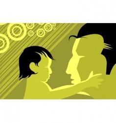kid and man vector image