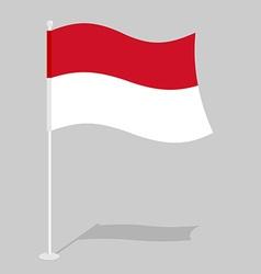 Monaco Flag Official national symbol of European vector image vector image