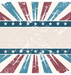 old USA colors frame grunge vector image