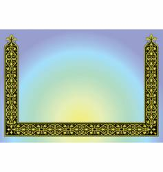 ornament border background vector image vector image