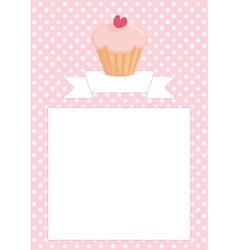 Restaurant menu wedding card list or baby shower vector image vector image
