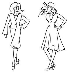 fashion clothes vector image vector image