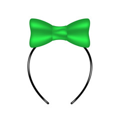headband with bow in green design vector image