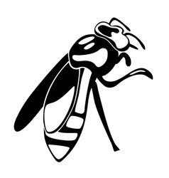 Silhouette of the bee vector