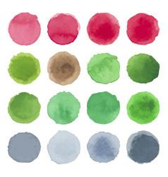 watercolor circle texture multicolored blots vector image