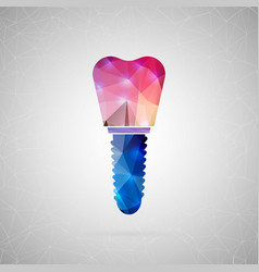 abstract creative concept icon of implant vector image