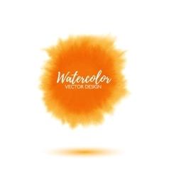 Abstract yellow watercolor splash vector