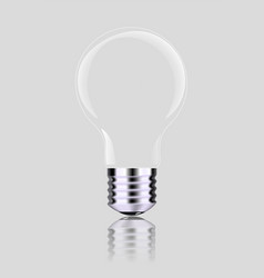 Light bulb isolated realistic photo image vector