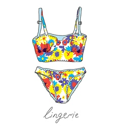 Lingerie set vintage design vector image