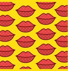 lips pop art pattern vector image