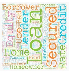 Secured Homeowner Loans Secures an opportunity to vector image vector image