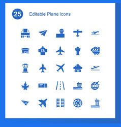 25 plane icons vector