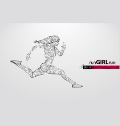 abstract silhouette a running athlete woman vector image